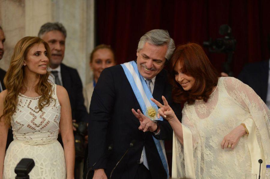 Traspaso de mando ante la Asamblea legislativa entre Alberto Fernández y Mauricio Macri.