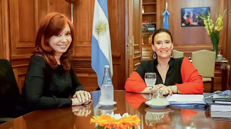 Cristina Kirchner y Gabriela Michetti