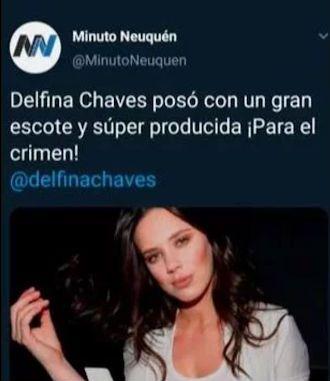La fuerte respuesta de Delfi Chaves a un diario por un titular