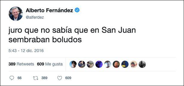 Alberto Fernández tuit 1