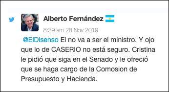 Alberto Fernández tuit 2