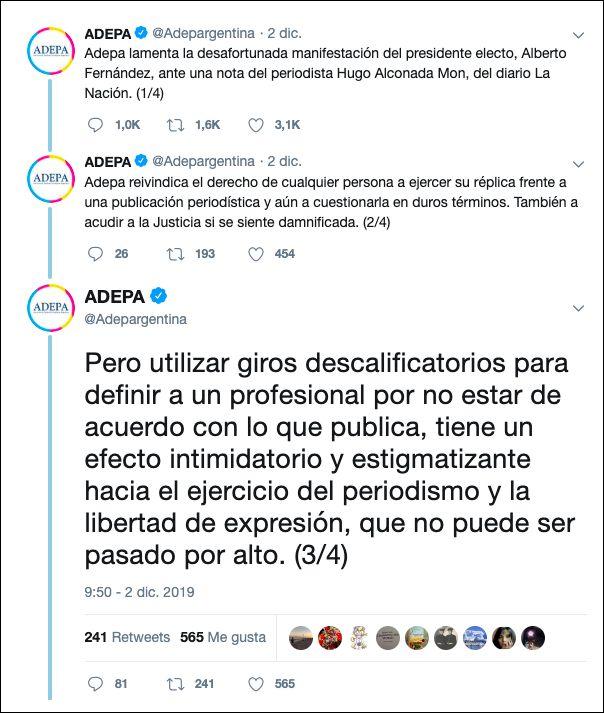 Alberto Fernández tuit 5