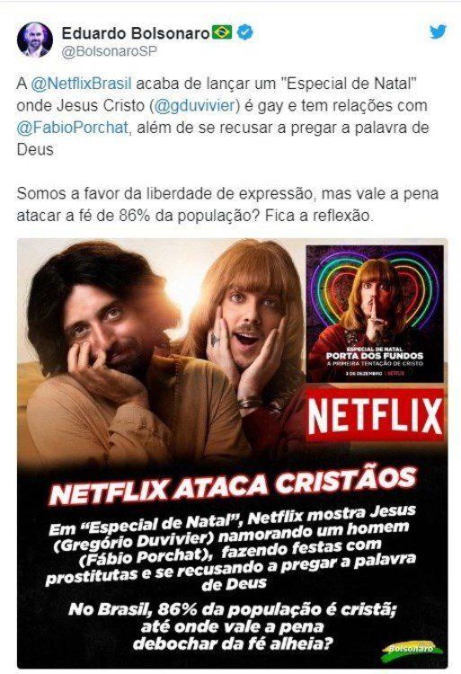 """Una serie de Netflix propone a un """"Jesús gay"""" y desató una fuerte polémica en Brasil"""