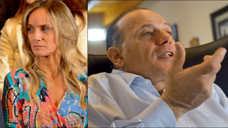 Distancia. Malena Galmarini y Sergio Berni habían tenido duros cruces en el 2013. La incorporación de este último al Gabinete de Kicillof fue un momento de tensión.