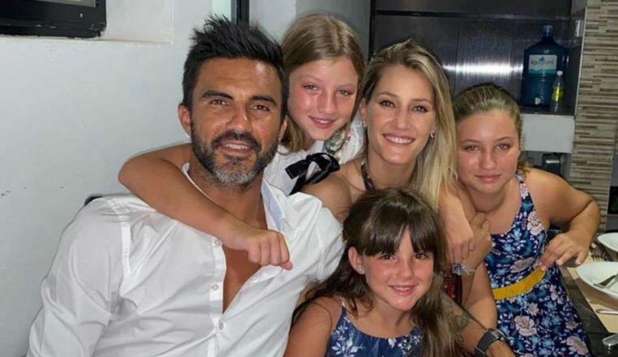 Fabían Cubero celebró la navidad mostrando a sus hijas junto a Mica Viciconte