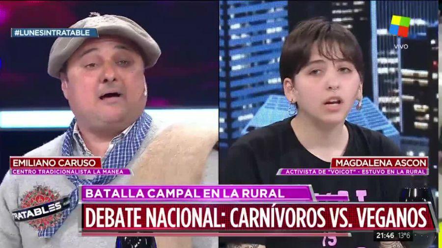 Gauchos versus veganos, Intratables 2019