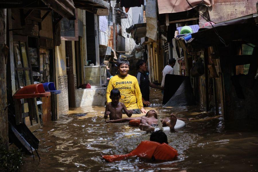 Massive Floods Hit Indonesia's Capital City