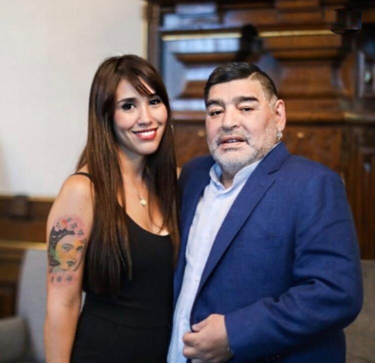 Anita Hernández con Diego Maradona