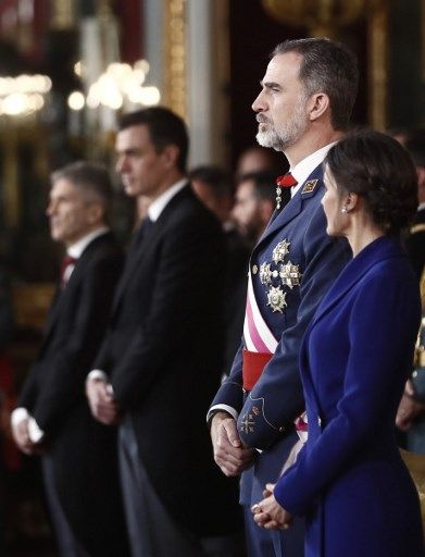 El maravilloso vestido azul de la reina Letizia del que habla el mundo