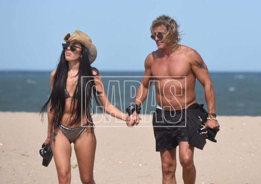 Claudio Paul Caniggia y Sofía Bonelli, apasionados en Punta del Este
