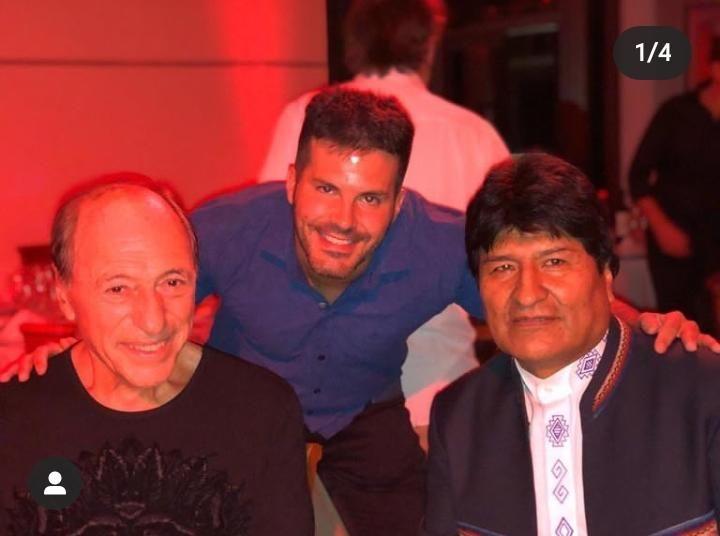 Raúl Zaffaroni, Julián Capasso y Evo Morales