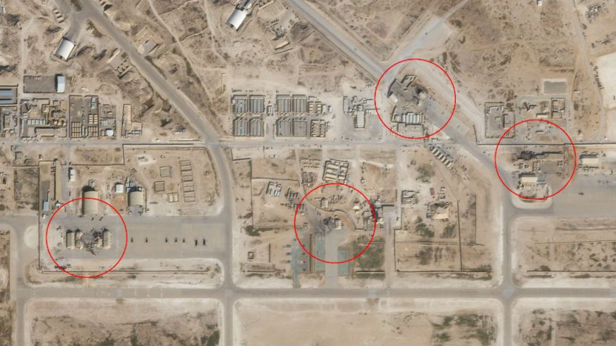 Las imágenes satelitales de los efectos del ataque iraní.