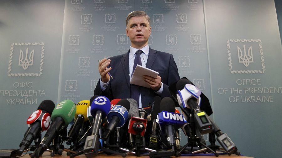 El ministro de Relaciones Exteriores ucraniano Vadym Prystaiko.
