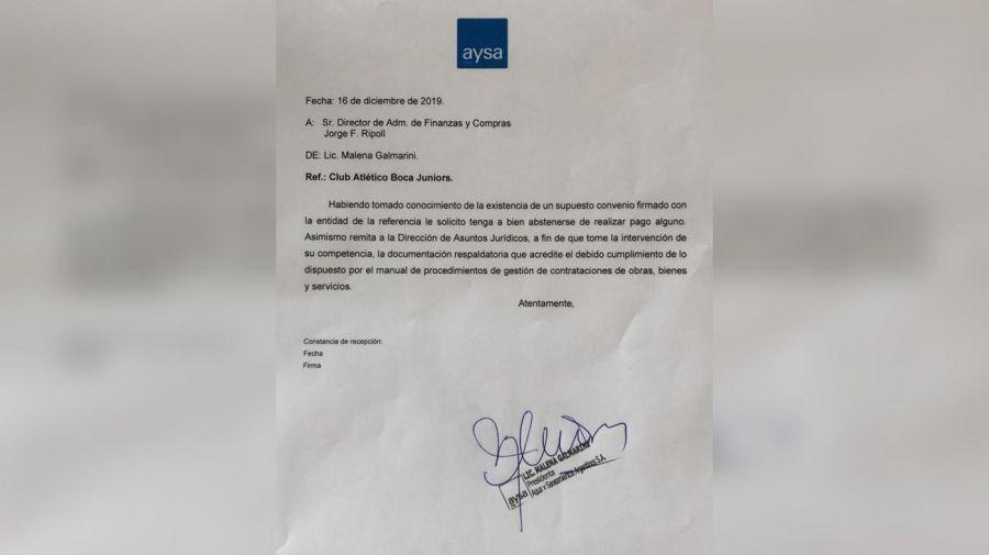 Asunto Boca Jrs 20200116