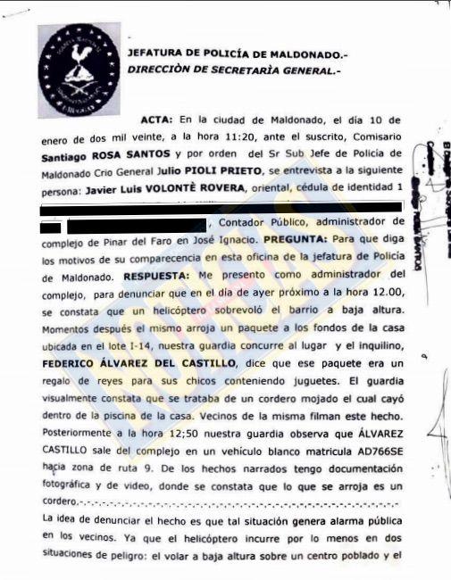La denuncia del administrador del barrio de Alvarez Castillo