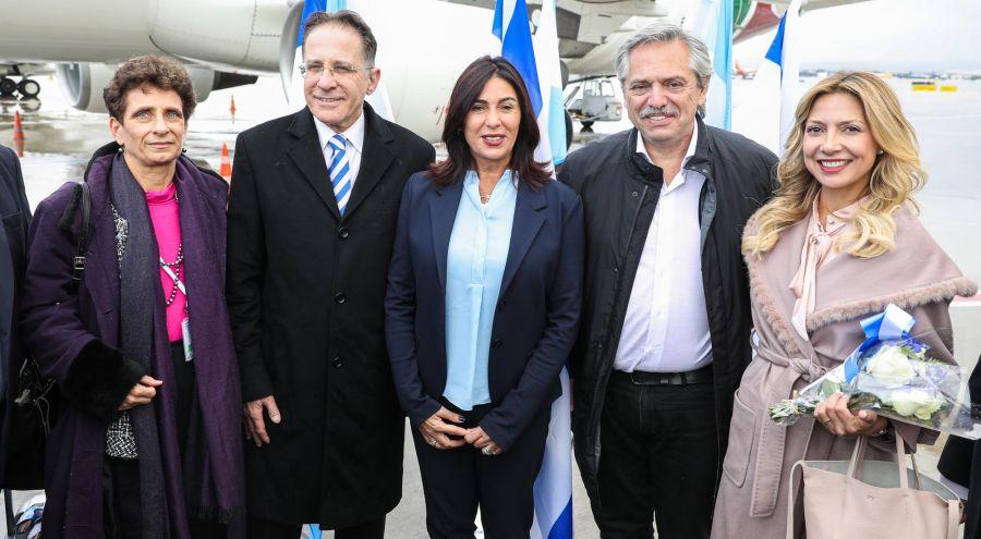 Alberto Fernández en Israel 20200122