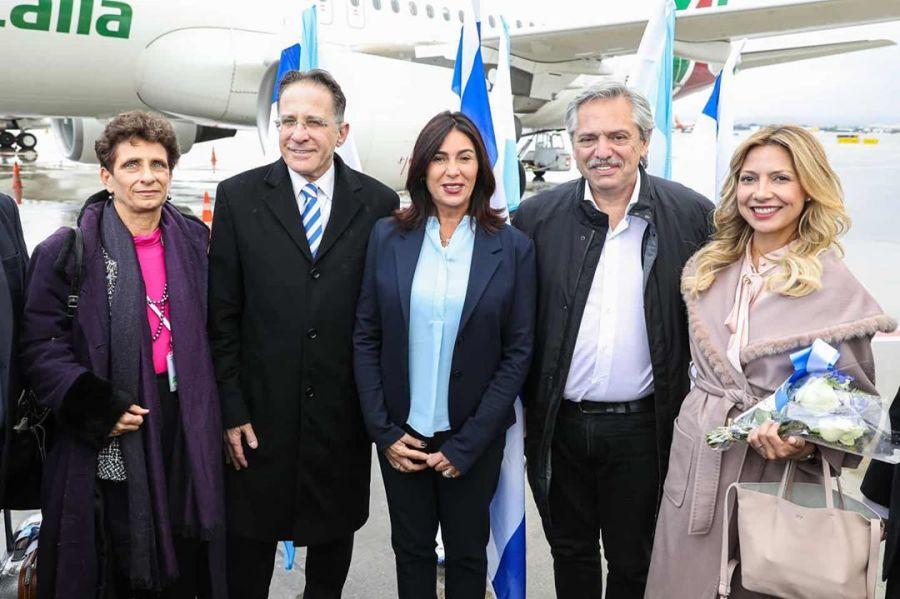 Lo que nadie te contó del look que eligió Fabiola Yañéz para arribar en Israel