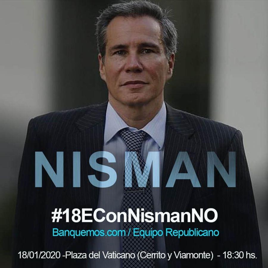 Afiche de convocatoria al acto de Nisman.