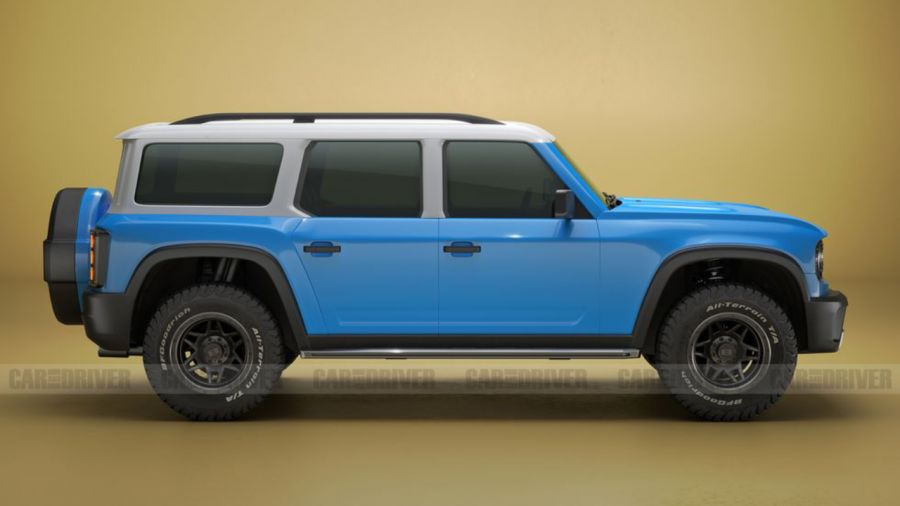 Recreación Ford Bronco (fuente: Car And Driver)