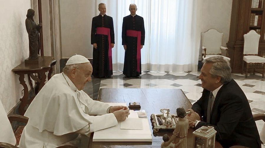 Alberto Fernández con el Papa Francisco