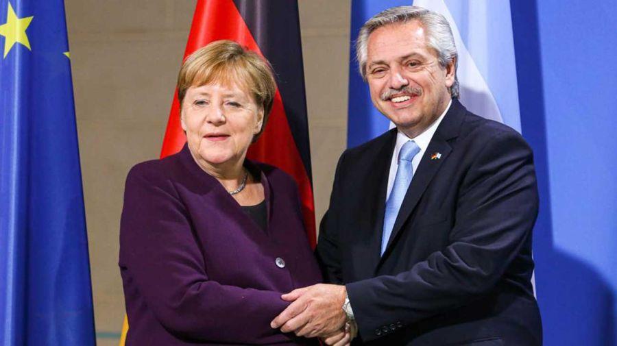 Alberto Fernández Ángela Merkel 03022020
