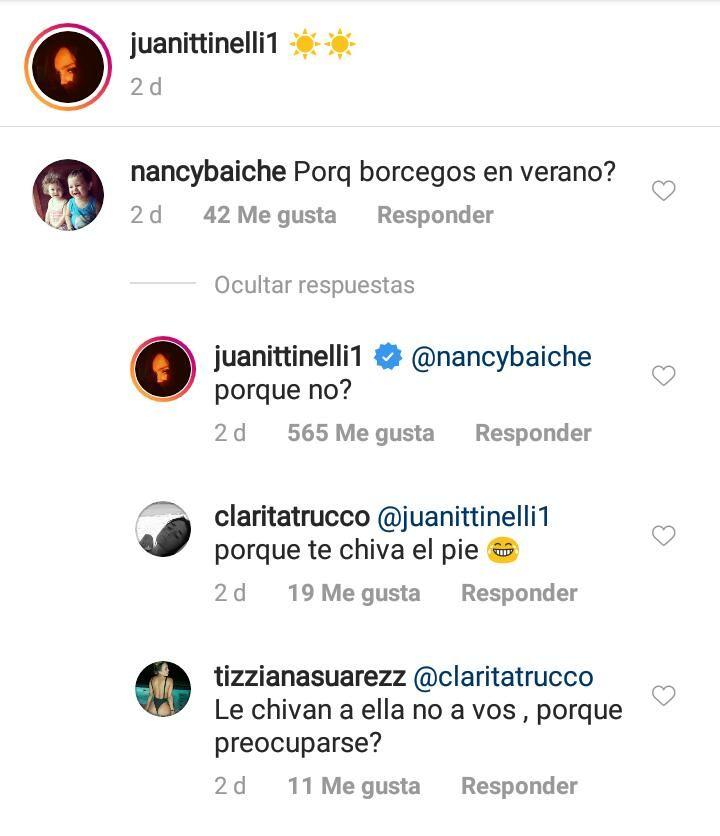 Juanita Tinelli respondió a las duras críticas por su ropa