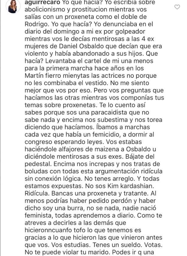 Carolina Aguirre Vs Jimena Barón