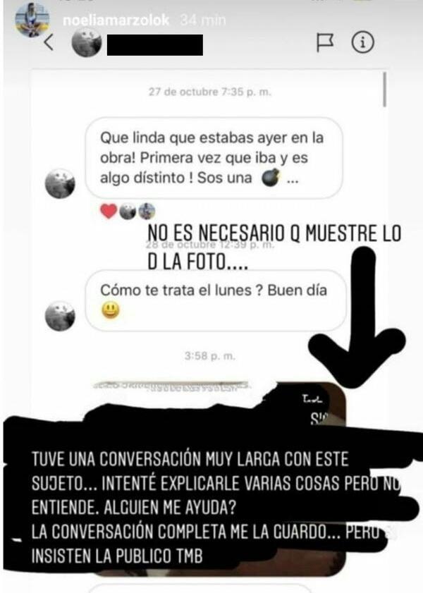 Noelia Marzol reveló que sufrió acoso a través de las redes sociales