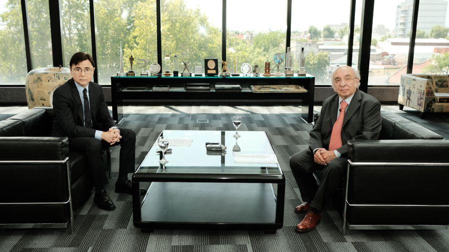 Carlos Leyba, en la entrevista con Jorge Fontevecchia.