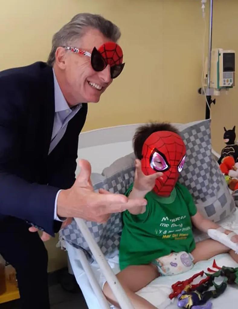 macri nene cancer hombre araña g_20200219