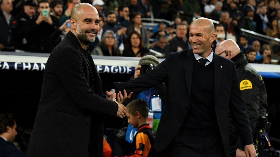 Pep Guardiola y Zinedine Zidane
