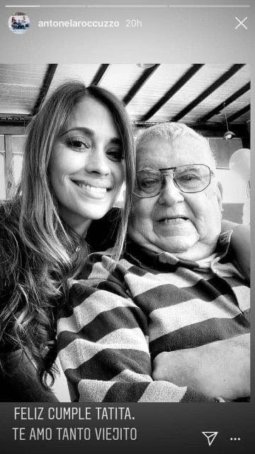 Falleció el abuelo de Antonela Roccuzzo