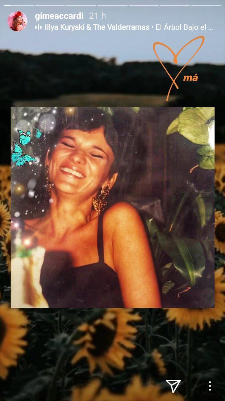 Gime Accardi compartió una emotiva foto con su mamá