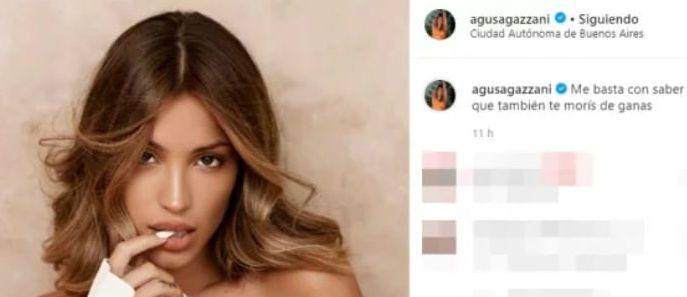 ¿Para Baclini? Agus Agazzani compartió un mensaje que luego borró