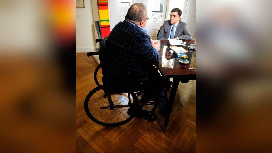 Jorge Lanata, en la entrevista con Jorge Fontevecchia.