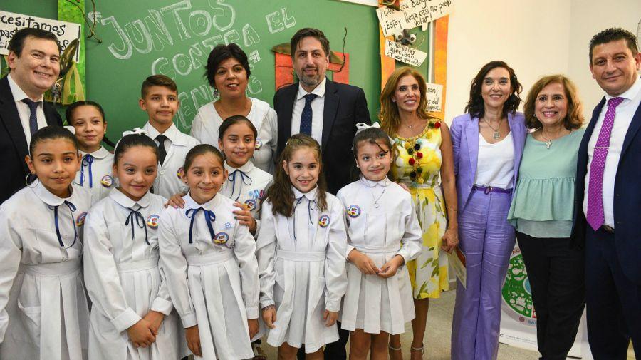 El ministro de Educación de la Nación, Nicolás Trotta, durante un acto de inauguración del ciclo lectivo.