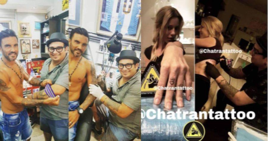Nicole Neumann eligió al mismo tatuador que su ex, Fabián Cubero