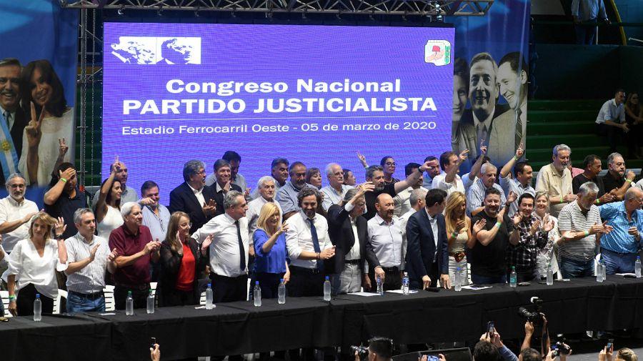 Nuevo congreso peronista en la era Alberto.