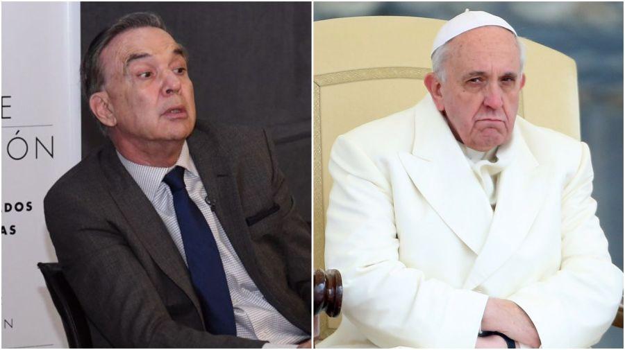 Pichetto cruzó a la Iglesia y a su líder, el papa Francisco.