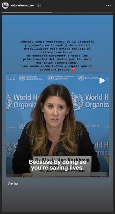 El mensaje de Anto Roccuzzo en medio de la crisis por el Coronavirus