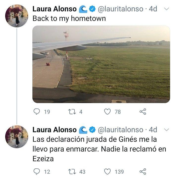 Laura Alonso coronavirus.