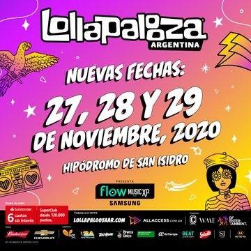 Lollapalooza: confirmaron la nueva fecha del festival