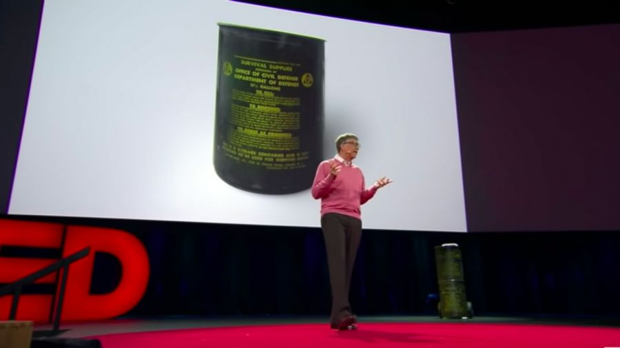 Bill Gates en la charla TED de 2015.