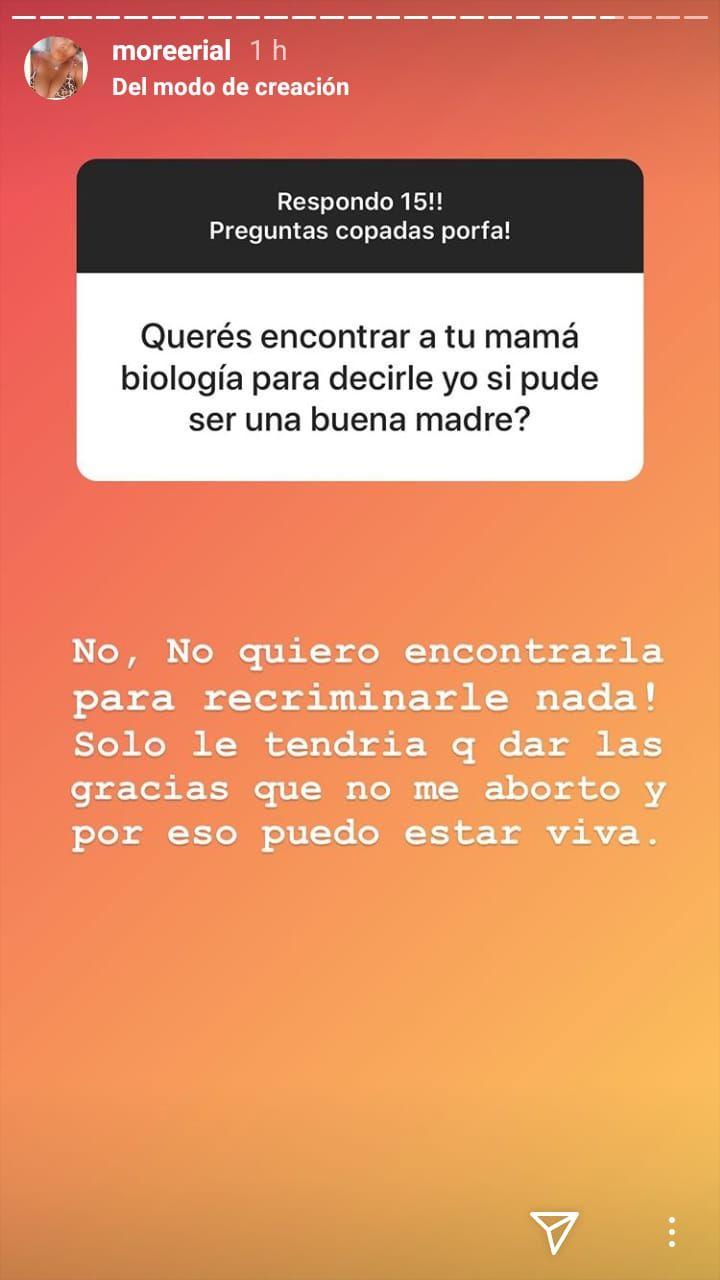 More Rial contó qué le diría a su mamá biológica