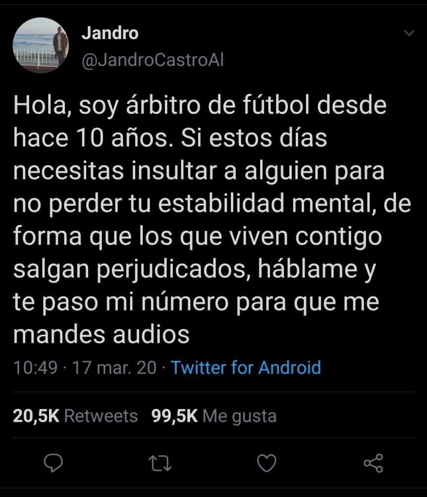 El mensaje de Alejandro Castro Alarcón