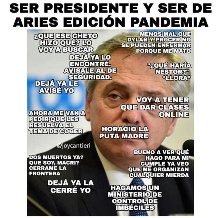 Los memes sobre Alberto Fernández. Crédito