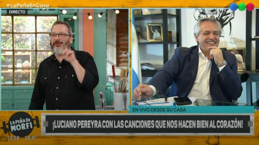 El presidente Alberto Fernández en