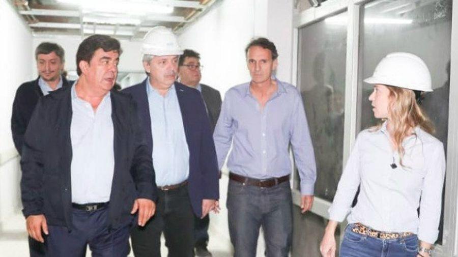 Alberto Fernández, Fernando Espinoza y Gabriel Katopodis