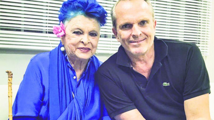 Lucia y Miguel Bose