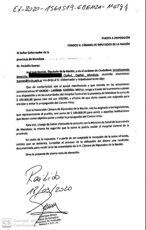 Carta José Luis Ramón
